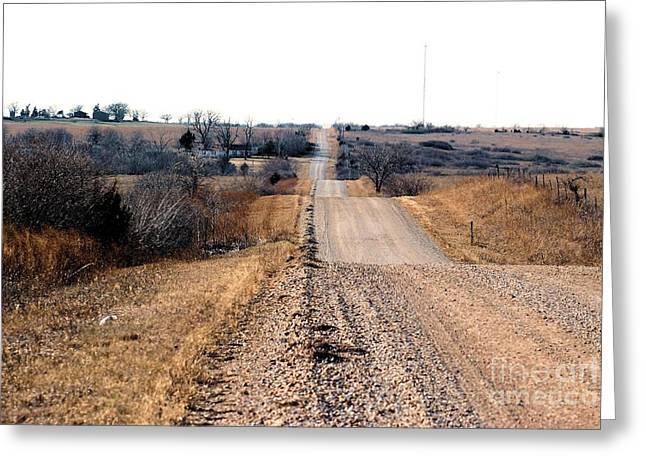Kansas Gravel Road Greeting Card