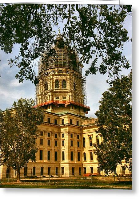 Kansas State Capitol Building Greeting Card by Lynne and Don Wright