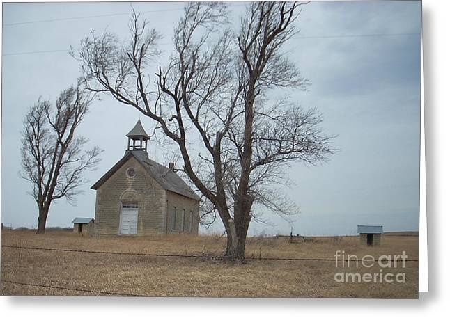 Greeting Card featuring the photograph Kansas Stone Church by Mark McReynolds