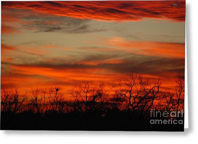 Greeting Card featuring the photograph Kansas Sunset by Mark McReynolds