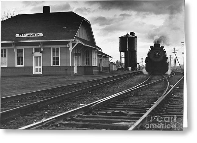 Kansas Train Station Greeting Card by Myron Wood and Photo Researchers