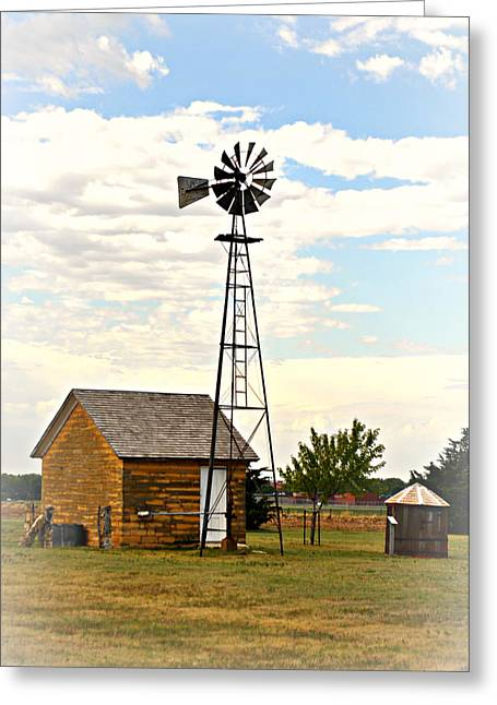 Kansas Windmill 1 Greeting Card by Marty Koch