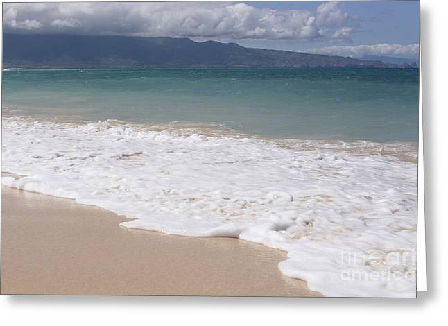 Kapukaulua - Purely Celestial - Baldwin Beach Paia Maui Hawaii Greeting Card by Sharon Mau