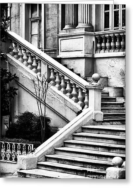 Karakoy Stairs Greeting Card by John Rizzuto