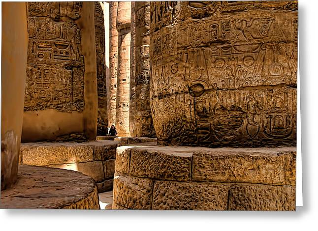 Karnak Temple Greeting Card by Andre Salvador