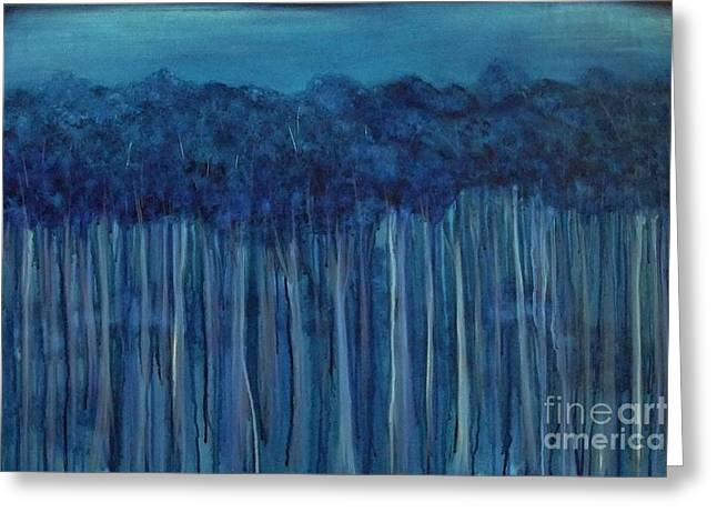 Karri Forest From Chapman Road Greeting Card by Leonie Higgins Noone