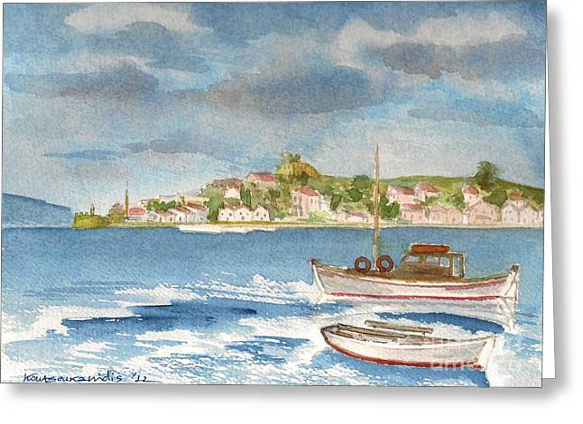Kastelorizo Greeting Card by Kostas Koutsoukanidis