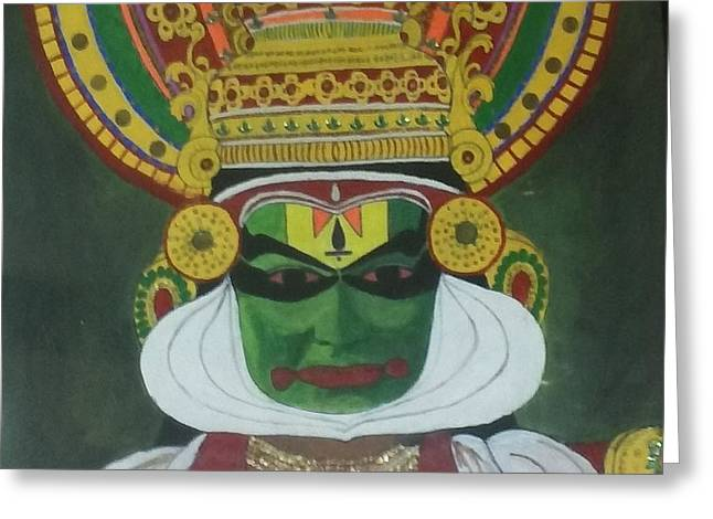 Kathakali Greeting Card by Shashi Kumar
