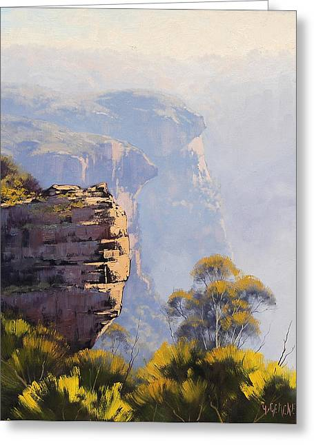Katoomba Cliffs Greeting Card