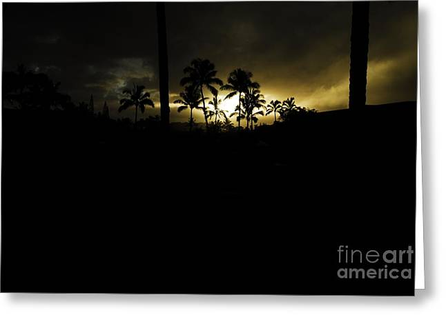 Kauai Storm Sunset Greeting Card