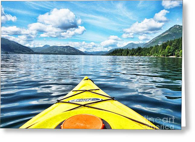 Kayaking In Bc Greeting Card