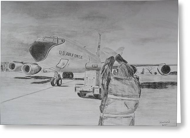 Kc-135 Study Greeting Card by Brian Hustead