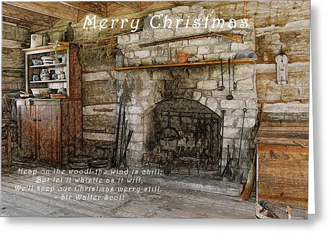 Keep Christmas Merry Greeting Card by Michael Peychich