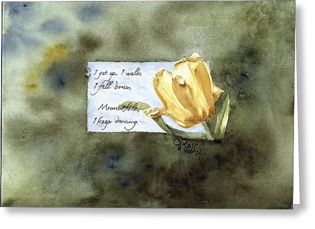 Keep Dancing Greeting Card
