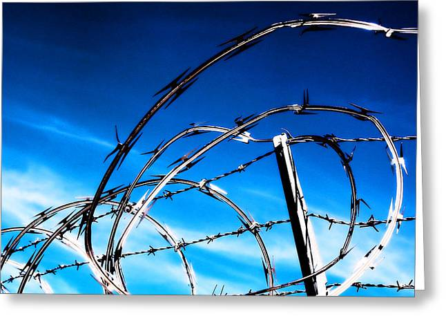 Keep Out Greeting Card by Wendy White