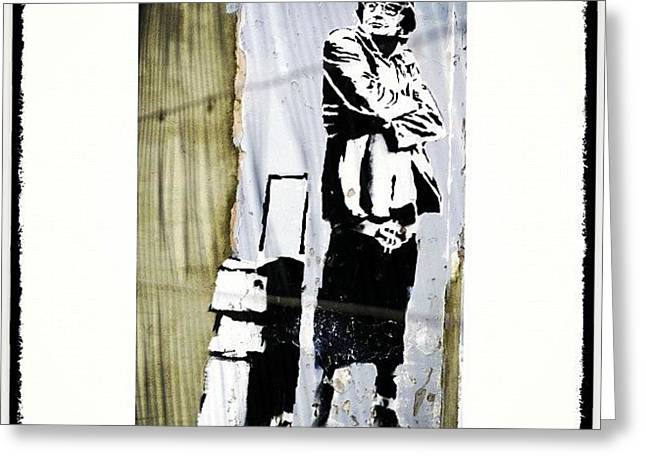 Keeping It Old School#banksy #stencil Greeting Card