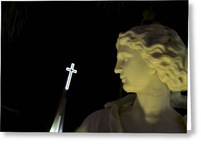 Keeping Watch Of The St. Armands Gods Greeting Card by Nicholas Evans