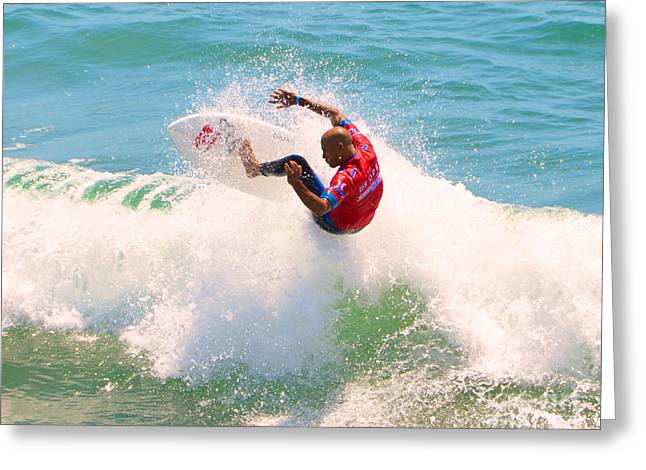Kelly Slater Us Open Of Surfing 2012     8 Greeting Card by Jason Waugh