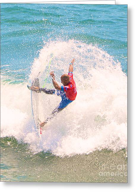 Kelly Slater Us Open Of Surfing 2012    5 Greeting Card by Jason Waugh
