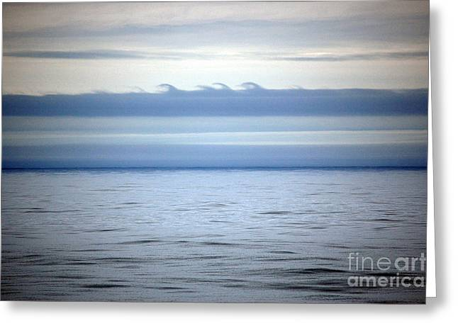 Kelvin-helmholtz Wave Clouds Greeting Card