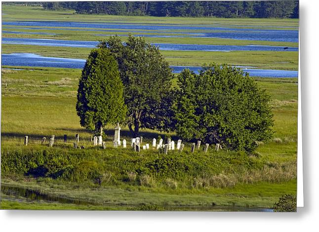 Kennebunkport Farmhouse Graves Greeting Card by Dave Saltonstall