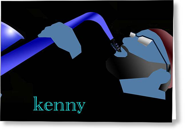Kenny Garrett Blue Greeting Card