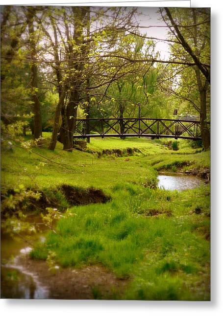 Kentucky Bridge Greeting Card by Cindy Wright