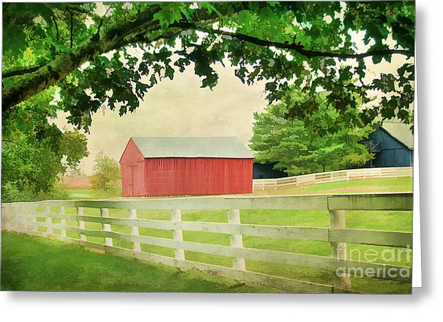 Kentucky Country Side Greeting Card by Darren Fisher