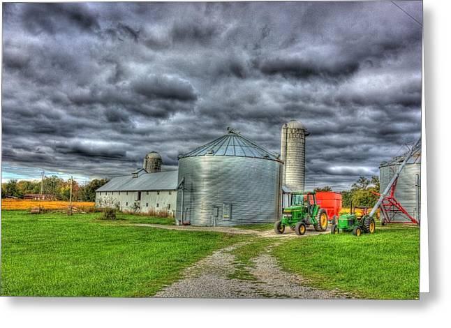 Kentucky Farm 3 Greeting Card by Barry Jones