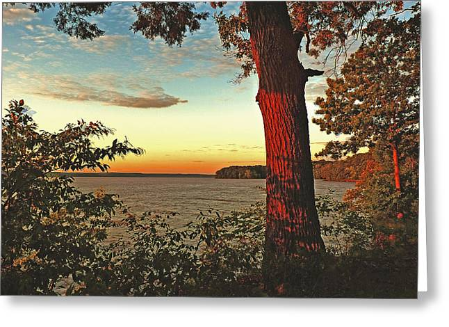 Greeting Card featuring the photograph Kentucky Lake Sunrise by William Fields