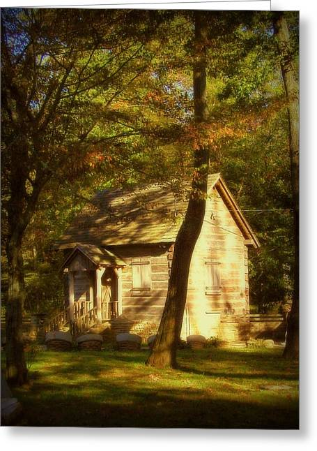 Kentucky Log Cabin Greeting Card by Cindy Wright