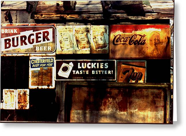 Greeting Card featuring the photograph Kentucky Shed Ad Signs by Tom Wurl