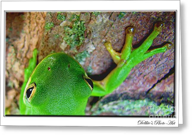Greeting Card featuring the photograph Kermit's Kuzin by Debbie Portwood