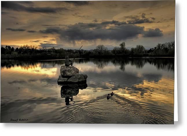 Ketring Lake Sunset Greeting Card