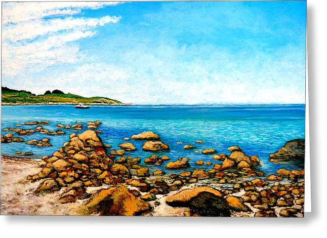 Kettle Cove Greeting Card by Tom Roderick