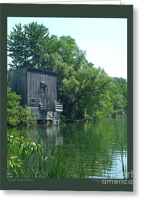 Keuka Lake Outlet-i Greeting Card by Patricia Overmoyer