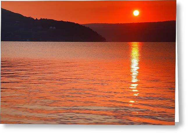 Keuka Sunrise  Greeting Card by Steven Ainsworth