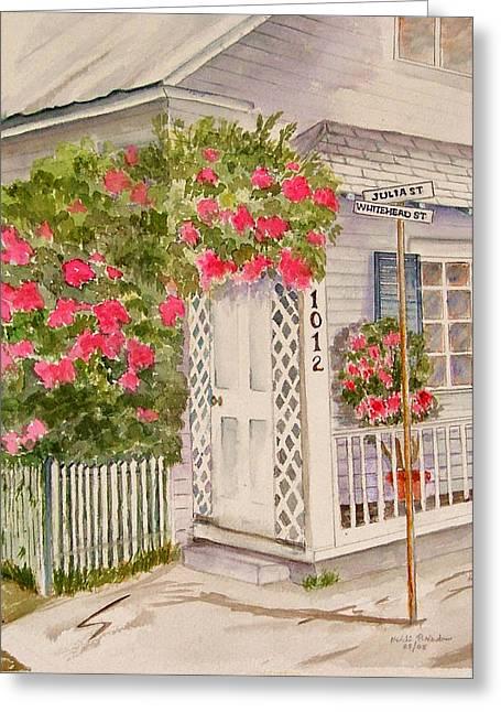 Key West Home Greeting Card by Heidi Patricio-Nadon