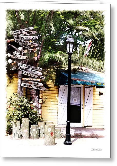Key West Signs Greeting Card by Linda Olsen