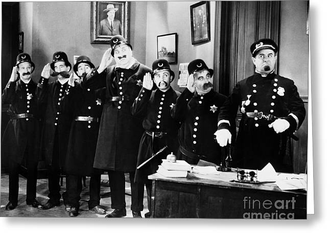Keystone Cops Greeting Card by Granger