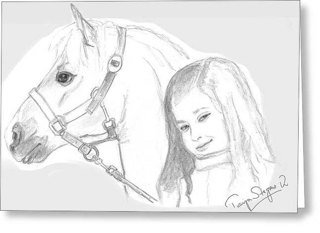 Kiara And Pony Greeting Card