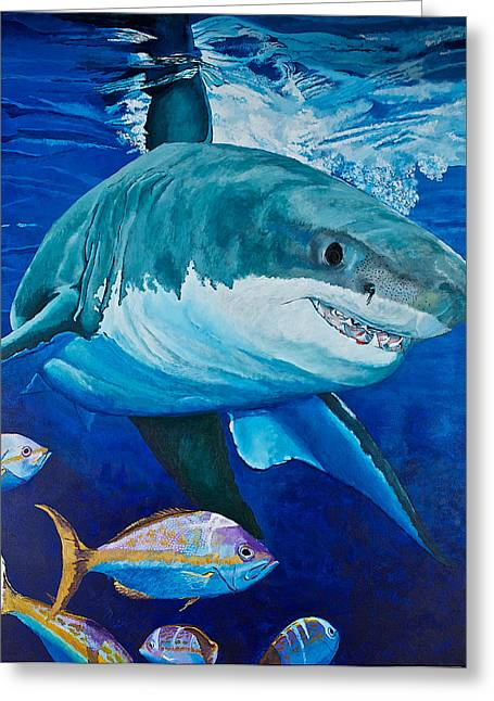 Kids Love Sharks Greeting Card by Terry Gill