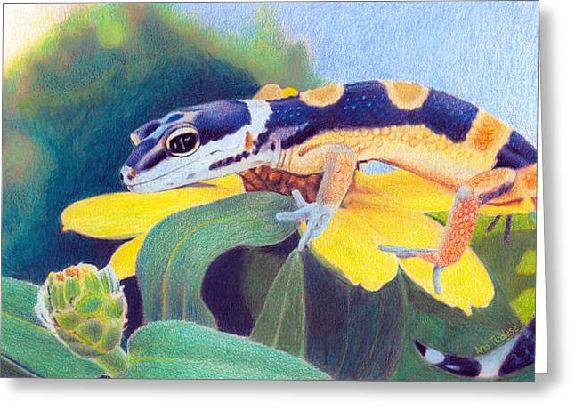 Kiiro The Gecko Greeting Card