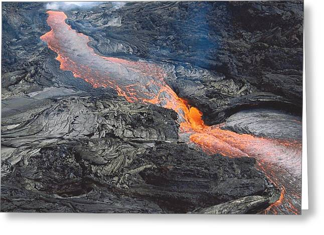 Kilauea Lava Flow Greeting Card
