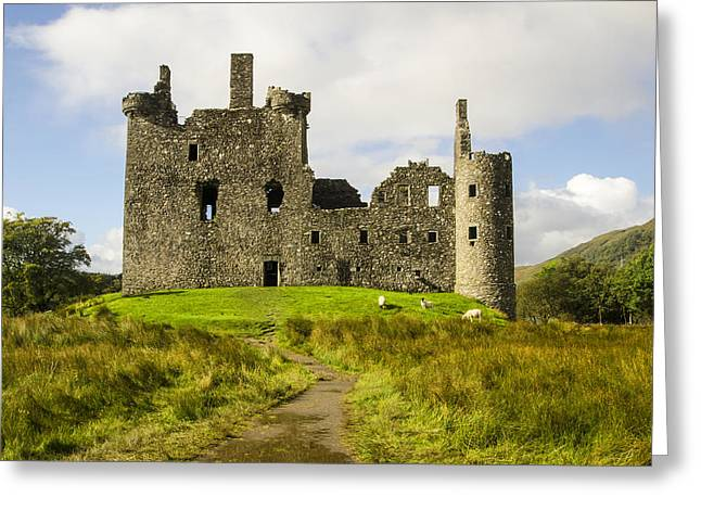 Kilchurn Castle Greeting Card by Chris Thaxter