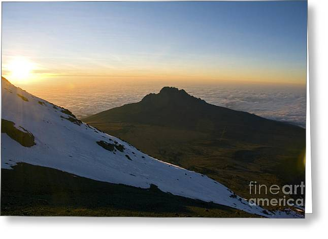 Kilimanjaro Sunrise Greeting Card