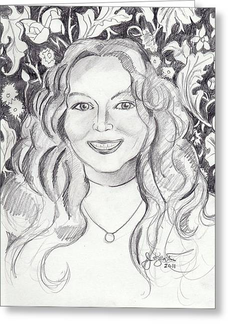 Kimberly Dupree Greeting Card by John Keaton