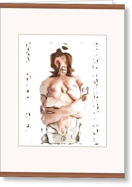 Kinda Shoulda Sorta Woulda Loved Her Greeting Card by Beren DeGuerre