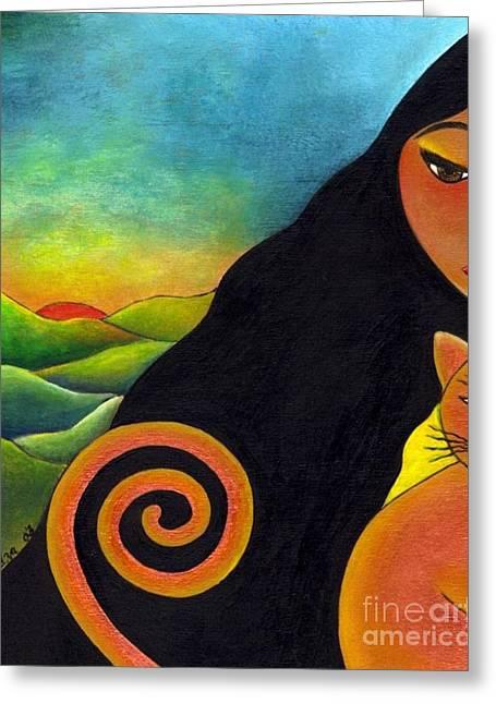 Kindred Spirits Greeting Card by Mucha Kachidza