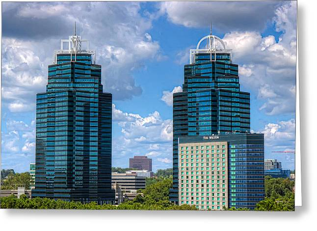 King And Queen Buildings Greeting Card by Anna Rumiantseva